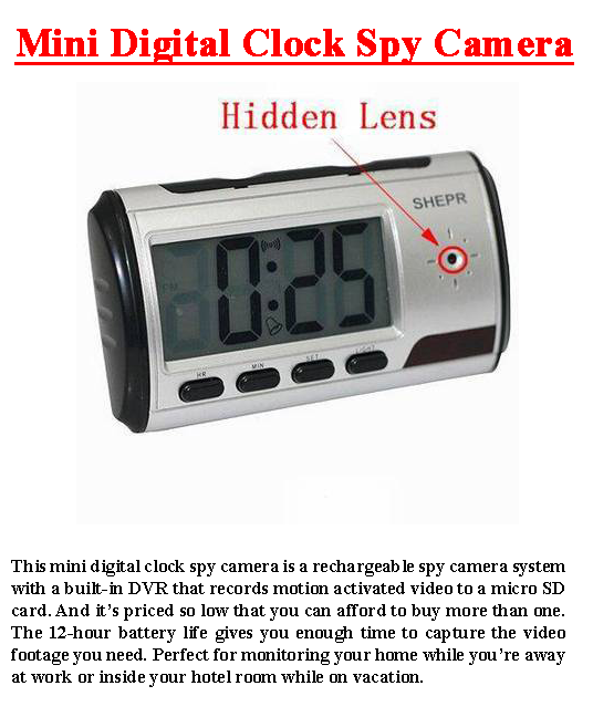 Mini Digital Clock Spy Camera